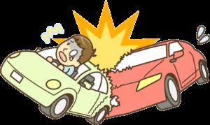 交通事故で追突されたイラスト