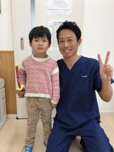 捻挫、高崎市にお住いの4歳の写真