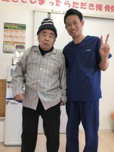高崎市在住の膝痛80歳男性の写真