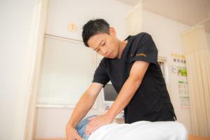 踵の痛み施術の図