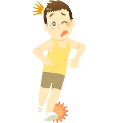 踵の痛みの図